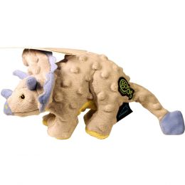 Quaker Pet Group Grey Dinos Frills The Triceratops Dog Toy Small