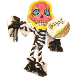 Quaker Pet Group Pink/b&w Godog Sugar Skulls With Rope Small