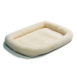 Midwest Container White Quiet Time Sheepskin Bed 42x26 In