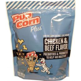 Triumph Chicken/beef Pupcorn Plus Dog Treats 4 Oz