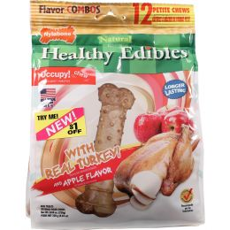 Tfh Publications/nylabone Turkey Healthy Edibles Combo Turkey & Apple 12pk Petite