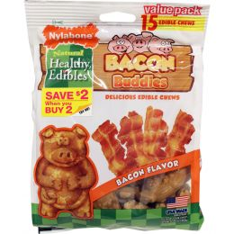 Tfh Publications/nylabone Bacon Healthy Edibles Bacon Buddies One Size/15 Ct