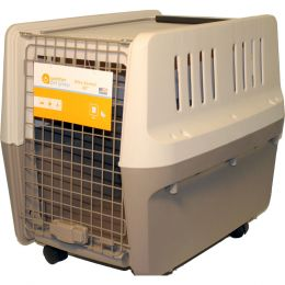 Gardner Pet Group Tan Elite Pet Kennel Carrier 28 Inch
