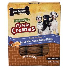 Three Dog Bakery Peanut Butter Classic Cremes Carob Cookies 13 Oz