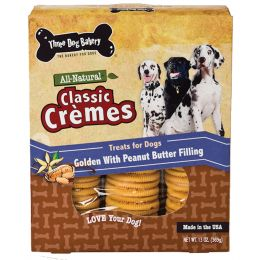Three Dog Bakery Peanut Butter Classic Cremes Golden Cookies 13 Oz