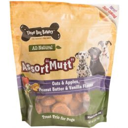 Three Dog Bakery Assortmutt Treat Trio For Dogs
