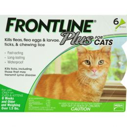 Petiq   Flea & Tick Frontline Plus For Cats 6 Pack