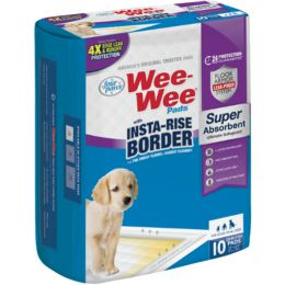Four Paws Wee-wee Insta-rise Border Pad 10 Pack