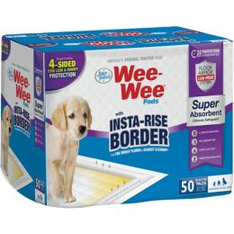 Four Paws Wee-wee Insta-rise Border Pad 50 Pack