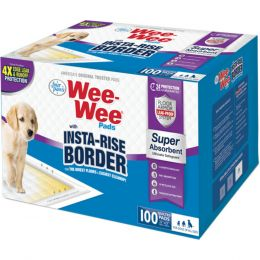 Four Paws Wee-wee Insta-rise Border Pad 100 Pack