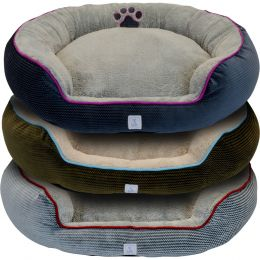 Dallas Assorted Cozy Pet Cuddler Bolster Pet Bed 36 In