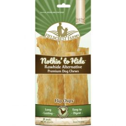 Fieldcrest Farms Chicken Nothin To Hide Rawhide Alternative Flip Chips 8pk