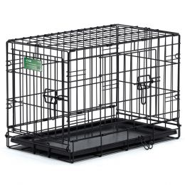 Midwest Container Black I-crate Double Door 30 In/double