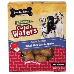 Three Dog Bakery Oatmeal & Apple Classic Wafers 13 Oz