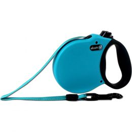 Paws/alcott Blue Alcott Retractable Leash Up To 65 Pounds Medium/16 Ft
