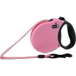 Paws/alcott Pink Alcott Retractable Leash Up To 25 Pounds Xs/10 Ft