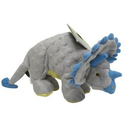 Quaker Pet Group Grey Dinos Frills The Triceratops Dog Toy