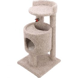 Ware Natural Cutout Condo Cat Furniture 19wx19dx35.5h