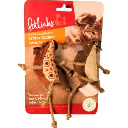 Worldwise Lil Critters Mice With Rope Legs 2 Pk