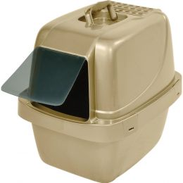 Van Ness Plastic Molding Gold Sifting Enclosed Cat Pan 19.5x15x17.5 In