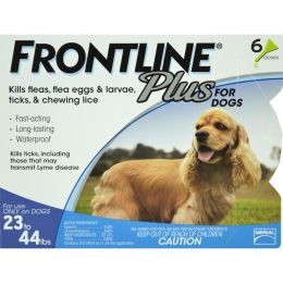 Petiq   Flea & Tick Frontline Plus Dog 23-44 Lb/6 Pk