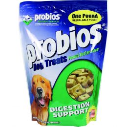 Vets Plus Probios Peanut Butter Digestion Support Dog Treats 1 Lb