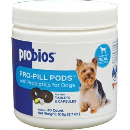 Vets Plus Probios Peanut Butter Pro-pill Pods With Probiotics For Small Dogs 30 Count