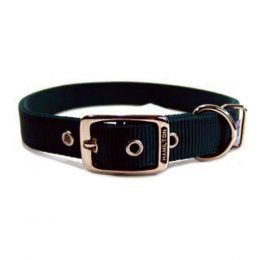 Hamilton Hunter Green Double Thick Nylon Dog Collar 1x26 In