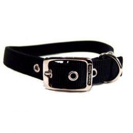 Hamilton Black Double Thick Nylon Dog Collar 1x26 In