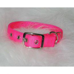 Hamilton Hot Pink Double Thick Nylon Dog Collar 1x24 In