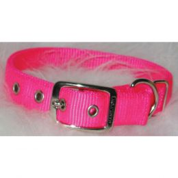 Hamilton Hot Pink Double Thick Nylon Dog Collar 1x26 In
