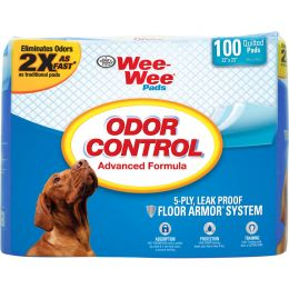 Four Paws Wee Wee Odor Control Pads 100 Pk