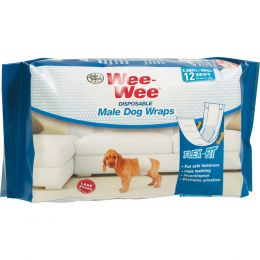 Four Paws Wee-wee Disposable Male Wraps Xs/small/12ct