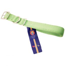 Hamilton Lime Double Thick Nylon Dog Collar 1x20 In