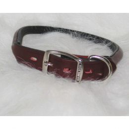 Hamilton Burgundy Rolled Leather Collar 1 X 22 In