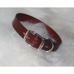 Hamilton Burgundy Creased Leather Collar 1x22 In
