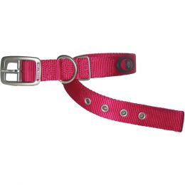 Hamilton Pink Double Thick Nylon Dog Collar 1x26 In