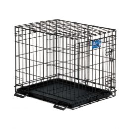Midwest Container Black Life Stages Crate W/divider Panel 24x18x21 In