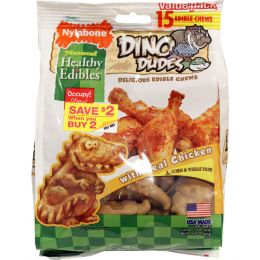 Tfh Publications/nylabone Chicken Healthy Edibles Dino Dudes Value One Size/15 Ct