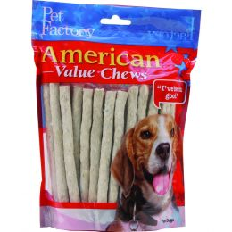 Pet Factory Natural American Beefhide Munchy Mini Rolls Value Pack 5 Inch/40 Pack
