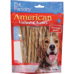 Pet Factory Chicken American Beefhide Twist Sticks Value Pack 5 Inch/25 Pack