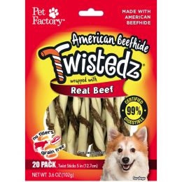 Pet Factory Twistedz Beefhide Twist Sticks