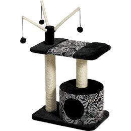 Midwest Homes For Pets Black/white Feline Nuvo Carnival Cat Furniture 22 X 15 X 36