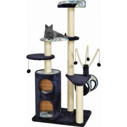 Midwest Homes For Pets Navy Feline Nuvo Playhouse Cat Furniture 35x25x62 Inch