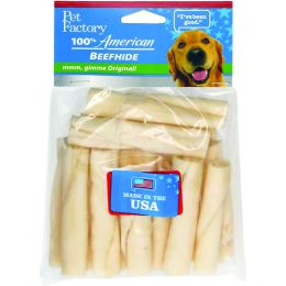 Pet Factory Usa Beefhide Mini Rolls 3-3.5 In/15 Pk