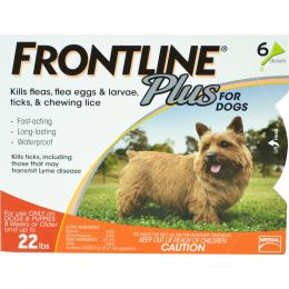Petiq   Flea & Tick Frontline Plus Dog 0-22 Lb/6 Pk