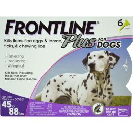 Petiq   Flea & Tick Frontline Plus Dog 45-88 Lb/6 Pk