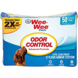 Four Paws Wee Wee Odor Control Pads 50 Pk