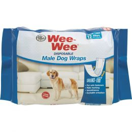 Four Paws Wee-wee Disposable Male Wraps Med/lrg/12ct