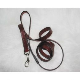 Hamilton Burgundy Leather Lead 3/4 In X 6 Ft